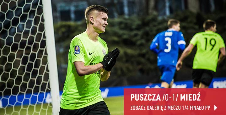 Galeria z meczu Puszcza Niepołomice - Miedź Legnica w marcu 2019 r.